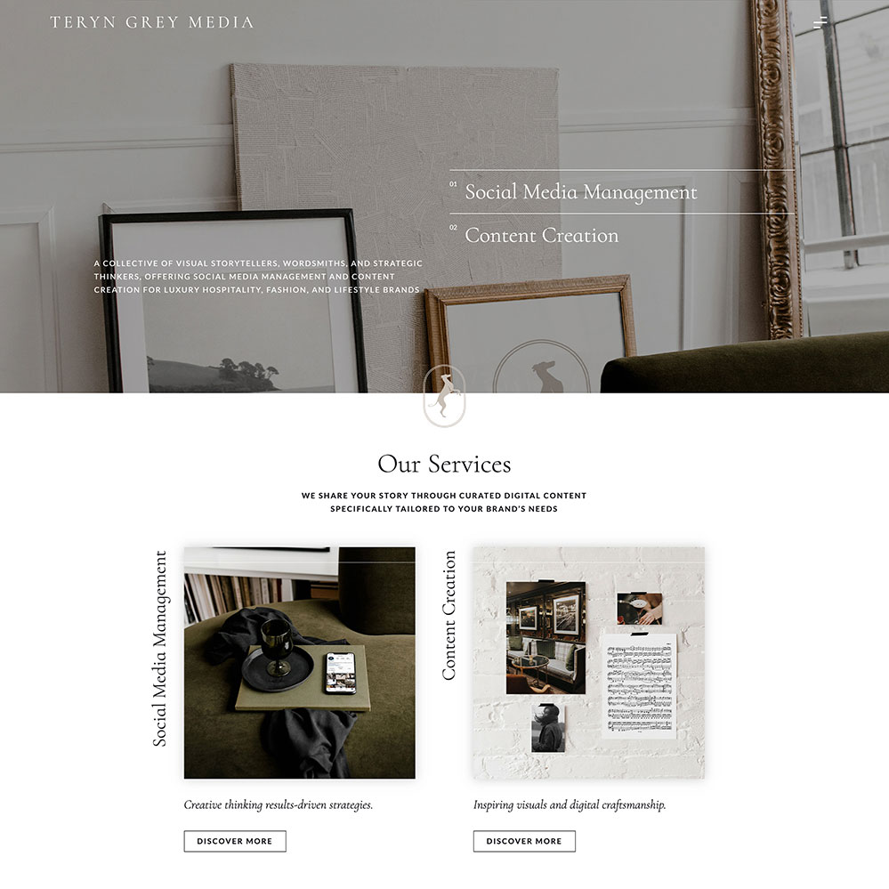 Whiskey and Red Small Business Branding and Website Design Package