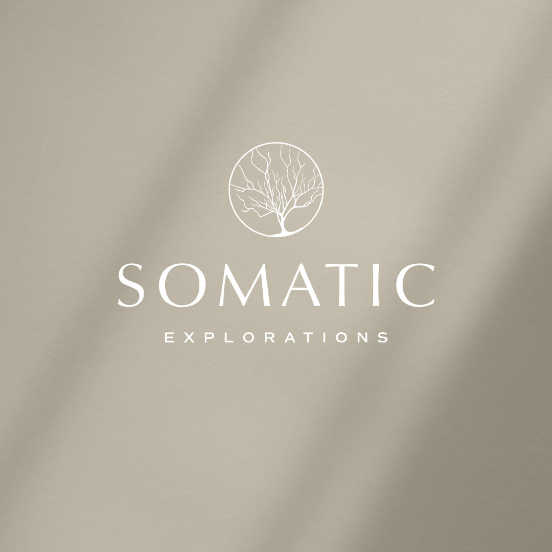 Whiskey and Red Small Business Branding and Website Design Package - Somatic Explorations Primary Logo Mockup